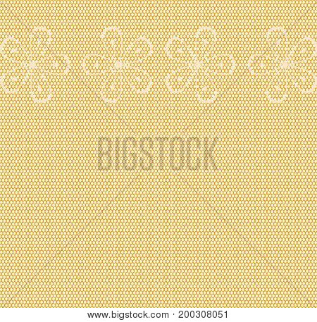 A nylon stocking weave background with light floral pattern
