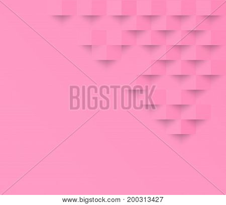 Pink pastel geometric texture background Abstract square geometric texture.banner background web design for infographics business finance.