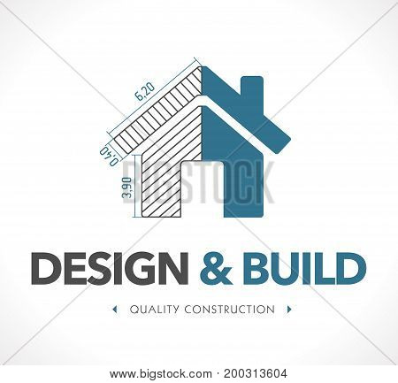 Logo - design and build - stock illustration