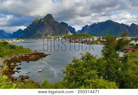 Norway Lofoten island view of its mountains