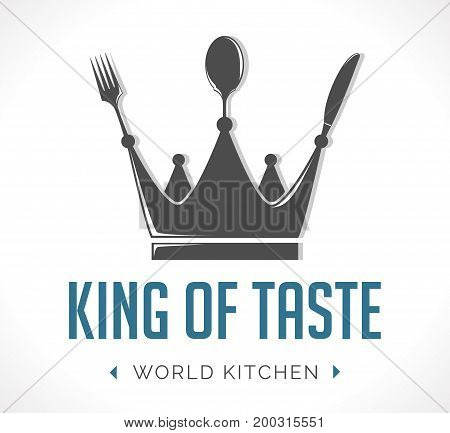 Logo - king of taste - stock illustration