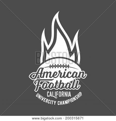 American football label, emblem and design elements