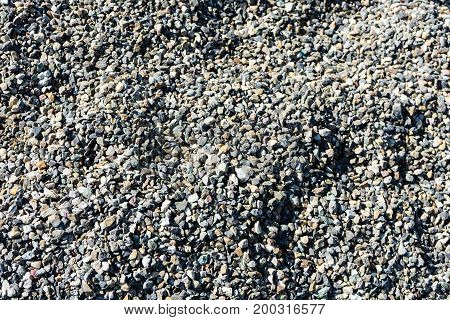 shingle path close up stones grey pathway