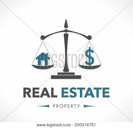 Logo - real estate - stock illustration