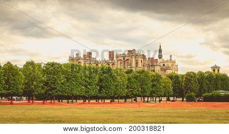 Detail Of The Architecture Of The Renaissance Castle Of Saint Germain En Lay