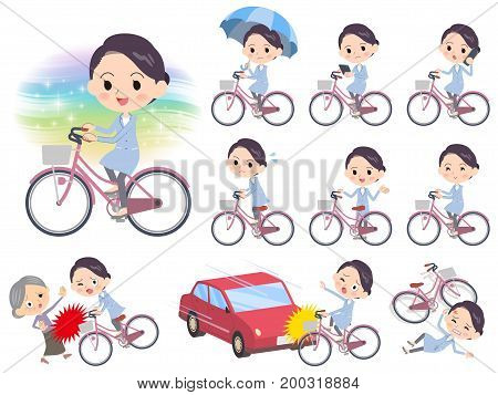 White Coat Women_city Bicycle