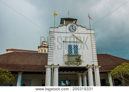 Old Court House Building In Kuching. Court House Complex Was Built In 1871 As The Seat Of Sarawak's