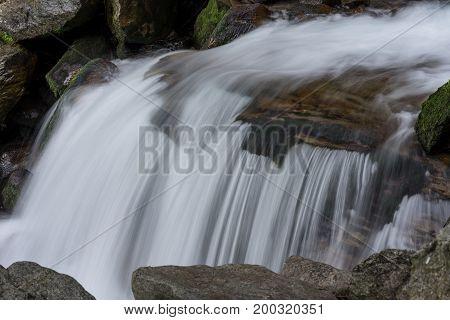 Ötztal Valley mountain river. Stuibenfall Waterfall. Österreich Niederthai Oetz Austria Europe
