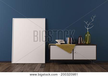 Cozy Scandinavian Room With Poster
