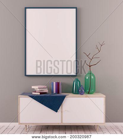 Creative Scandinavian Room With Banner