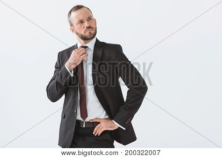 Stylish Businessman In Suit