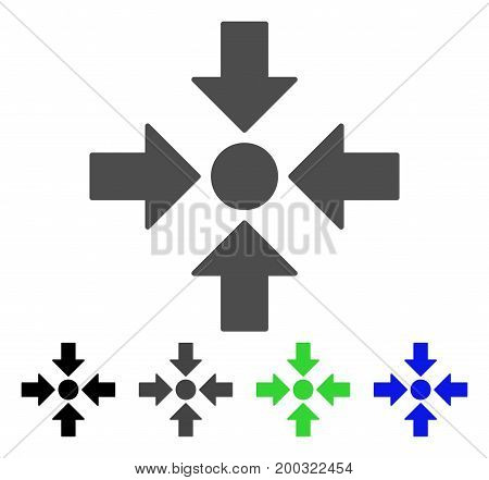 Meeting Point flat vector icon. Colored meeting point, gray, black, blue, green icon versions. Flat icon style for application design.