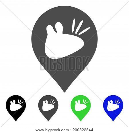Rats Marker flat vector pictogram. Colored rats marker, gray, black, blue, green pictogram versions. Flat icon style for graphic design.