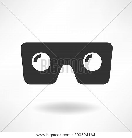 VR Glass Simply Vector Icon vector illustration