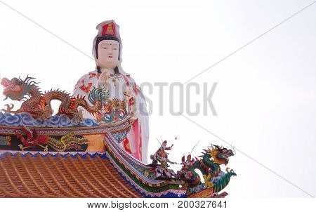 The Goddess of Mercy, known as Quan Yin or Guan Yim, depending on the chinese dialect