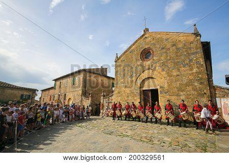 Monteriggioni In Siena Province, Tuscany, Italy