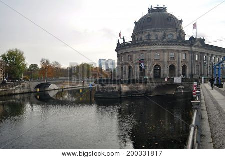 Bode Museum Is One Of The Group Of Museums On The Museum Island For German People And Foreigner Trav