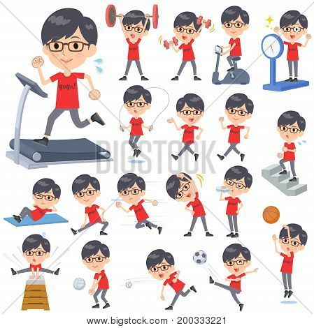 Red Tshirt Glasse Men_sports & Exercise
