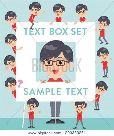 Red Tshirt Glasse Men_text Box