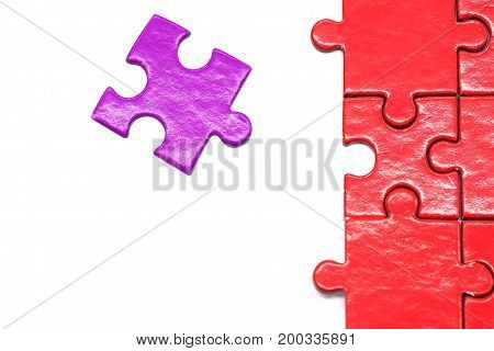 puzzle and jigsaw isolated on white background