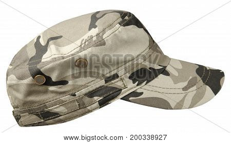 hat isolated on white background. Hat with a visor.military hat