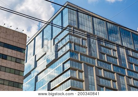 Glass Windows Of Business Building