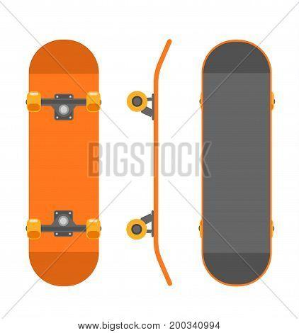 Skateboard isolated on white background. Stock vector illustration