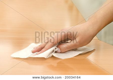 Hand With Wet Wipe