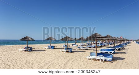 Amazing beach on the island of Tavira. Algarve Portugal