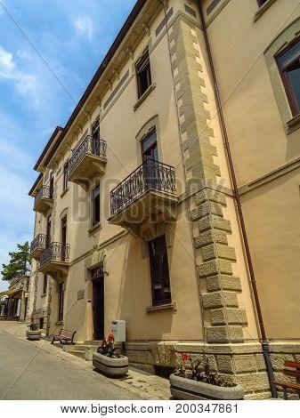 San Marino San Marino Republic - June 16 2017: Architecture old city in San Marino