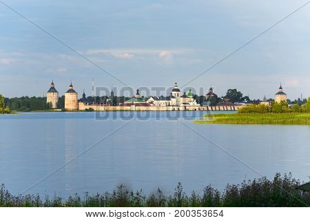 View Cyril Belozersky Monastery sunny summer day