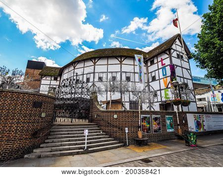 Globe Theatre In London (hdr)