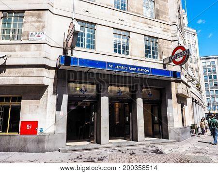 St James Park Tube Station In London (hdr)