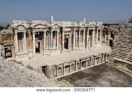 Theater Of Hierapolis In Turkey