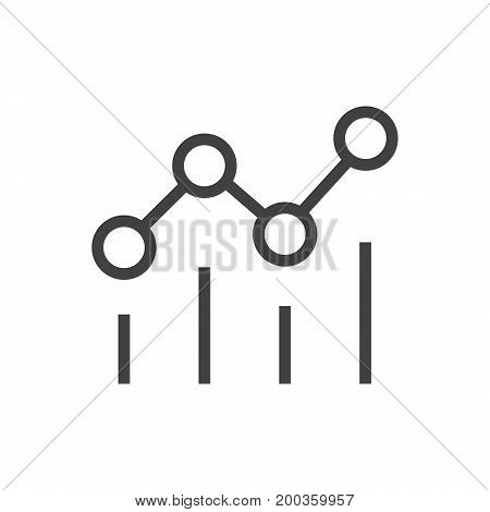 Vector Campaign Element In Trendy Style.  Isolated Statistics Outline Symbol On Clean Background.