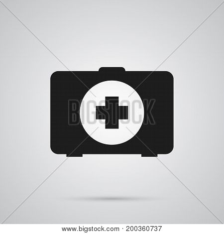 Isolated Medical Kit Icon Symbol On Clean Background
