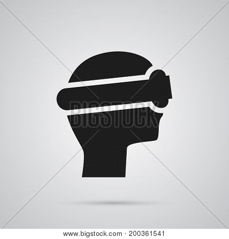 Isolated Vr Helmet Icon Symbol On Clean Background