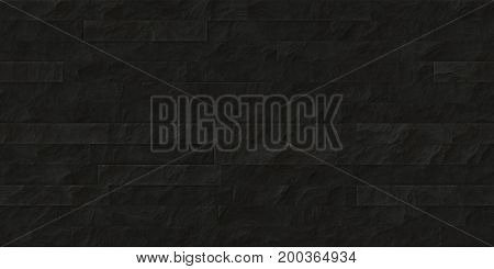 Black Seamless Stone Cladding Texture