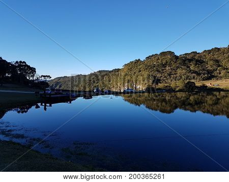 Final de Tarde no Parque Cascata do Avencal em Urubici - SC - Brasil