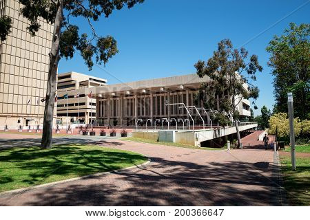 WESTERN AUSTRALIA, PERTH - NOVEMBER 2016: Perth Concert Hall building at St George Terrace