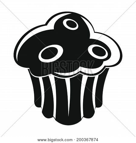 Cake bakery product in black simple silhouette style icons vector illustration for design and web isolated on white background. Cake bakery product vector object for labels and logo