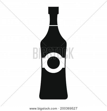 Bottle alcohol martini in black simple silhouette style icons vector illustration for design and web isolated on white background. Bottle alcohol martini vector object for labels