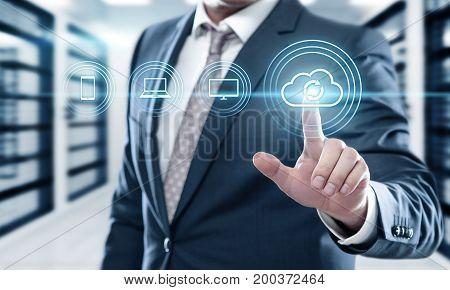Backup Storage Data Internet Technology Business concept. poster