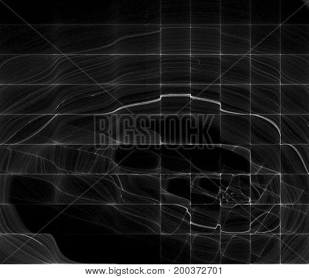 Light wave radar signal line abstract screen horizontal background