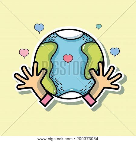global peace and love to worldwide harmony vector illustration