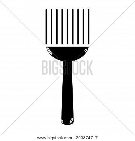 contour fork kitchen utensil that used to cook vector illustration