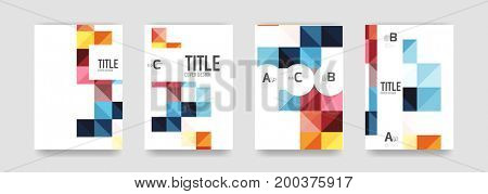 Set of brochure cover background, a4 template. Business presentation design layouts, brochure or flyer concepts or geometric web banners