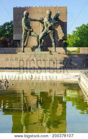 Ankara, Turkey - Guven Park in Kizilay Square