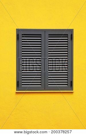 Architectural detail in Santa Cruz of Flores, Azores, Portugal
