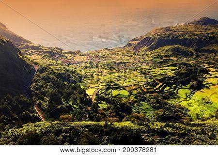 Fajazinha in Flores Island, Azores, Portugal, Europe
